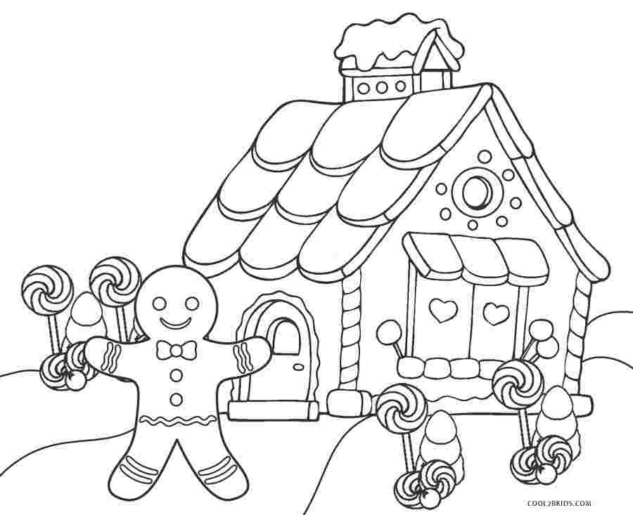 free coloring pages gingerbread house gingerbread house