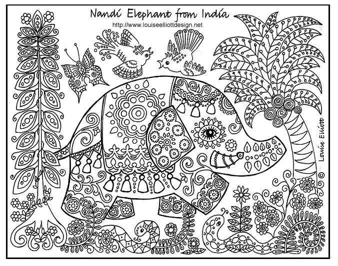 free coloring pages of animalspatterns around the world