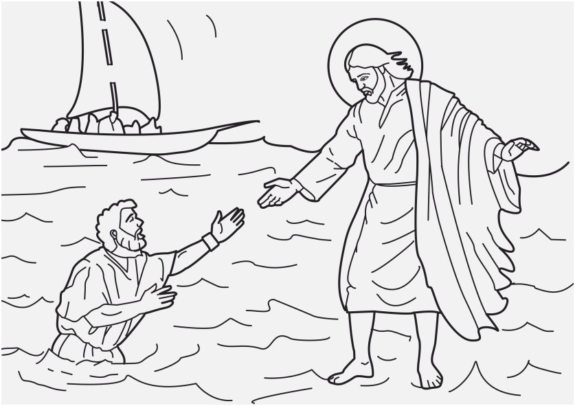 free coloring pages of jesus capture jesus walks water