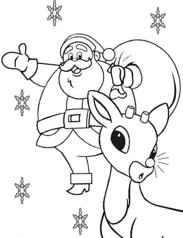 free coloring pages of rudolph the red nosed reindeer