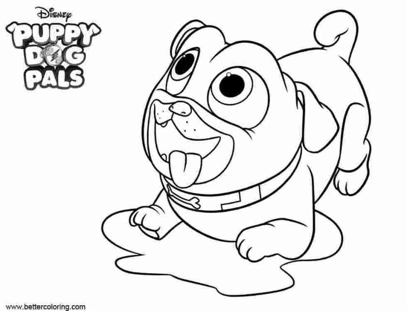free coloring pages puppy dog pals puppy dog pals coloring