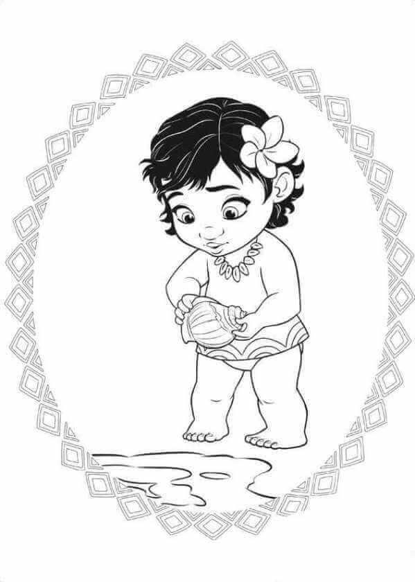 free coloring pictures moana pusat hobi