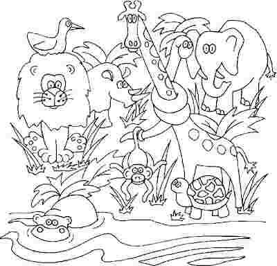 free colouring pages jungle animals jungle book coloring