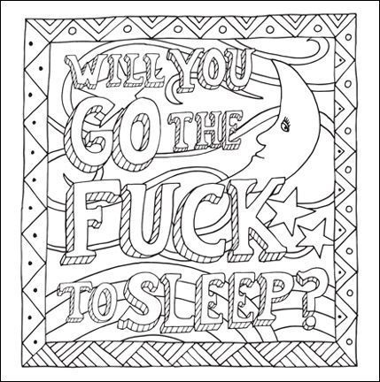 free curse word coloring page for adults free adult