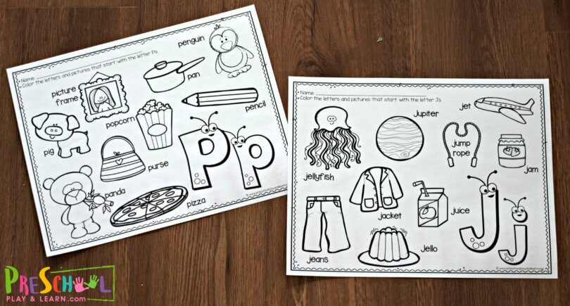 free cute alphabet coloring pages preschool play and learn