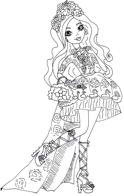 free ever after high coloring pages briar beauty download