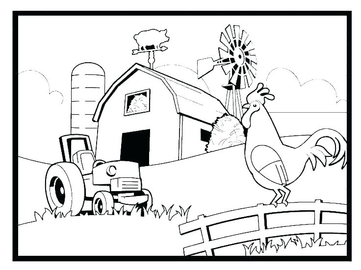 free farm coloring pages farm coloring pages for preschoolers