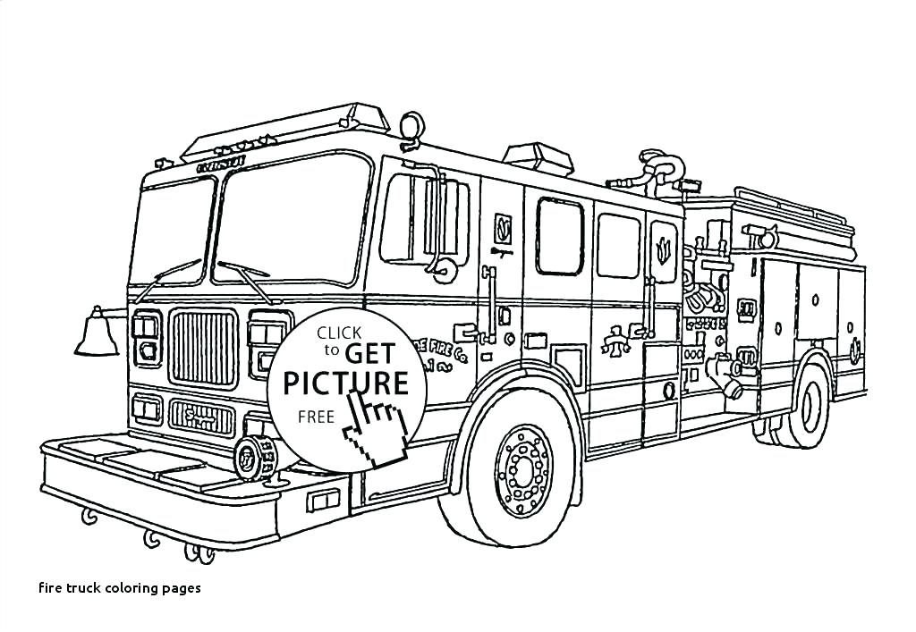 Fire Truck Coloring Pages Idea - Whitesbelfast