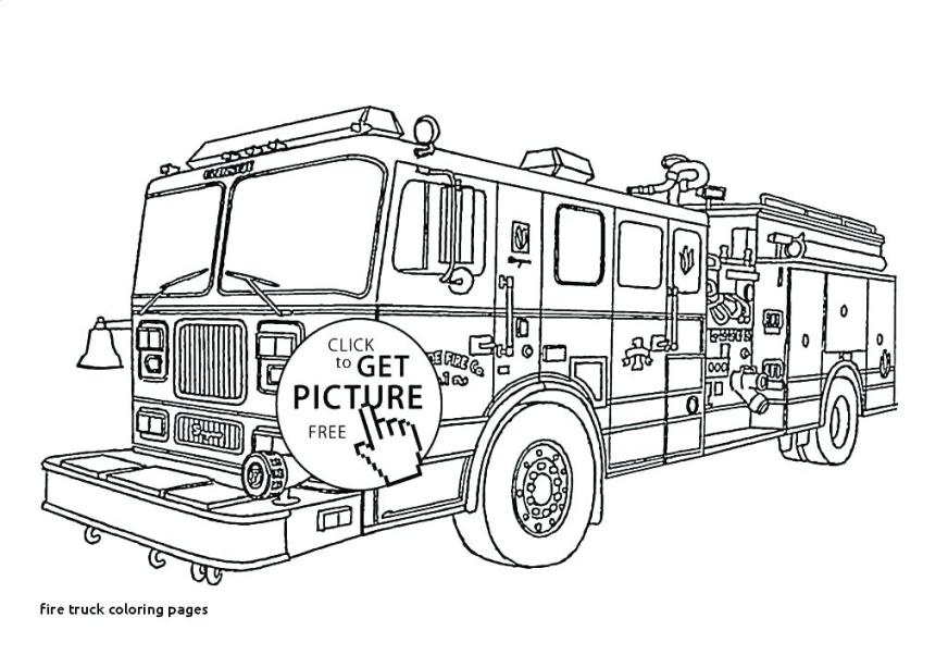 free fire truck coloring pages to print pusat hobi