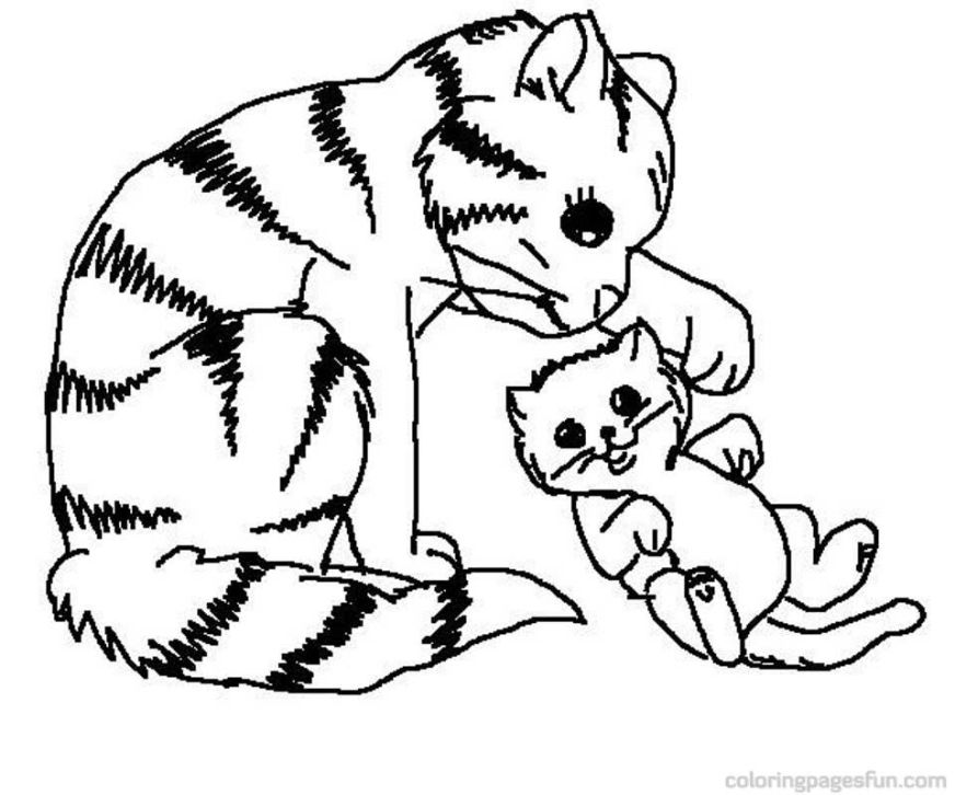 free free kitty cat coloring pages download free clip art