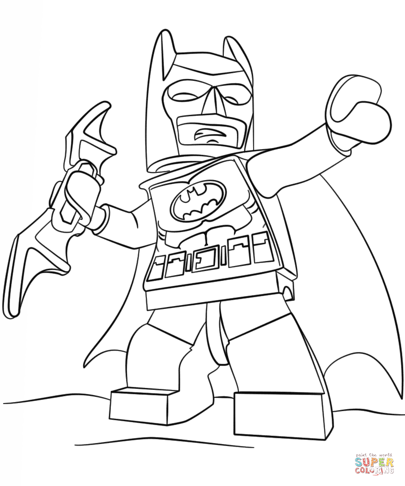 free free printable lego batman coloring pages download