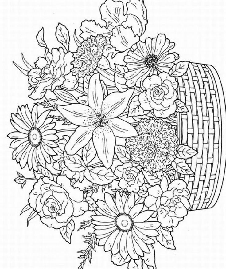 free geometric flower coloring pages download free clip art