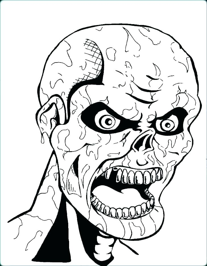 free halloween coloring pages to print colouring scary