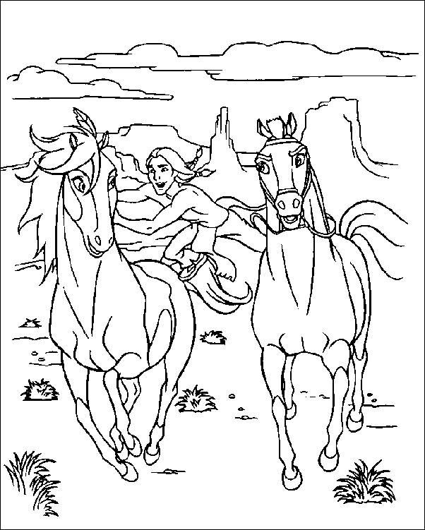 free horse pictures to color horse western colouring