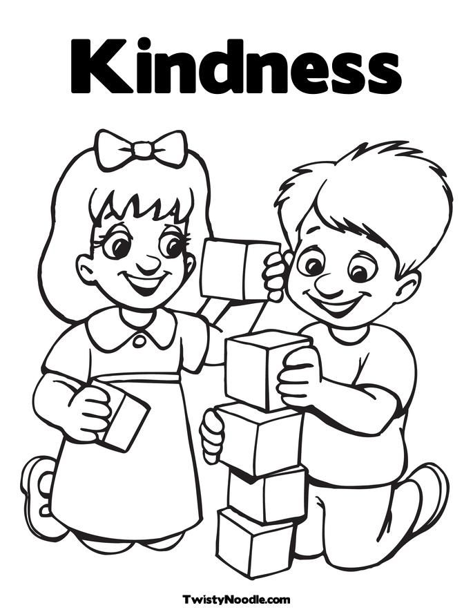 free kindness coloring pages download free clip art free