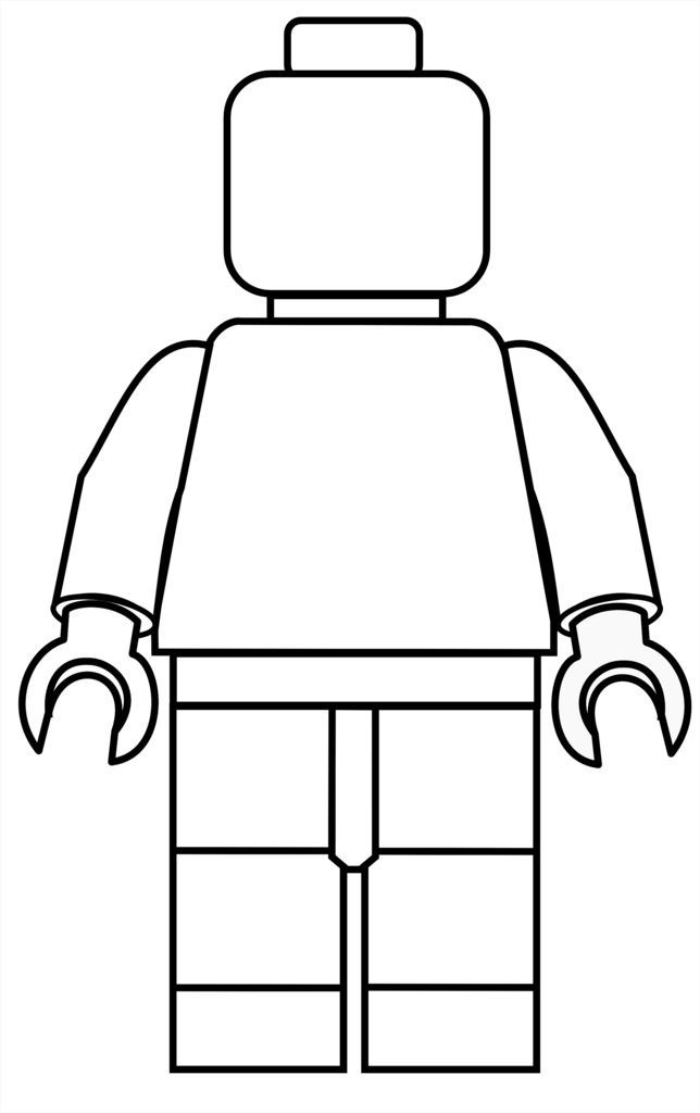 free make your own lego mini figure coloring in printable
