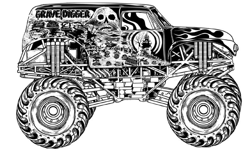 free monster truck coloring pages monster truck coloring