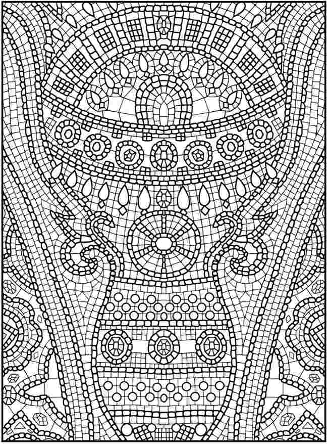free mosaic coloring pages for adults car color number