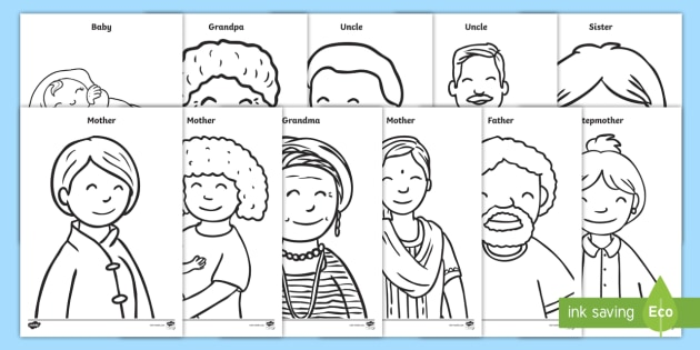 free my family coloring sheets coloring fine motor