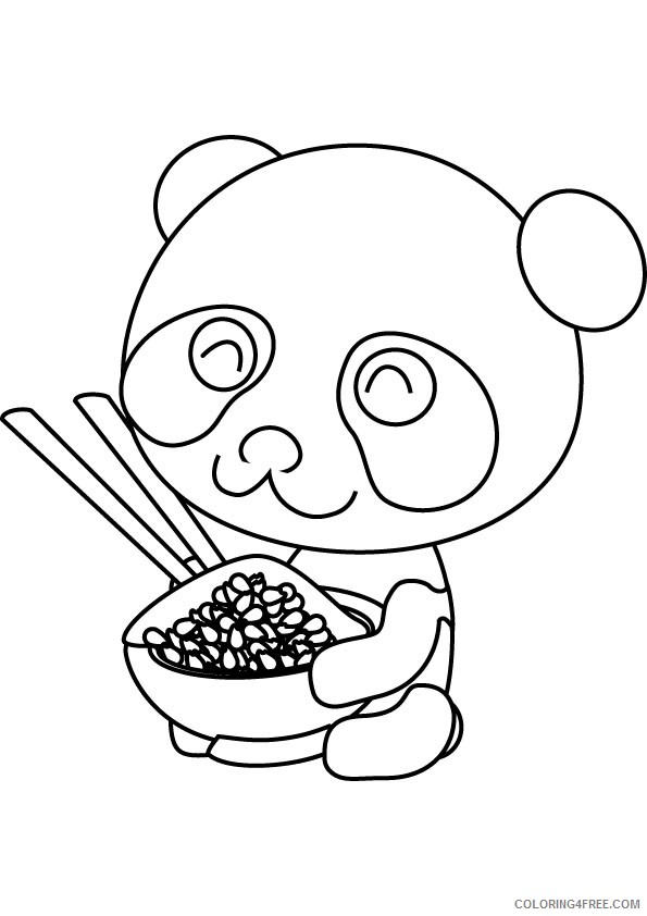 free panda coloring pages for kids coloring4free