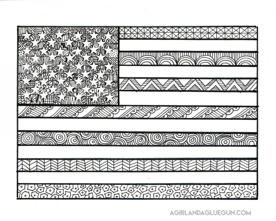 free patriotic coloring pages flag coloring pages
