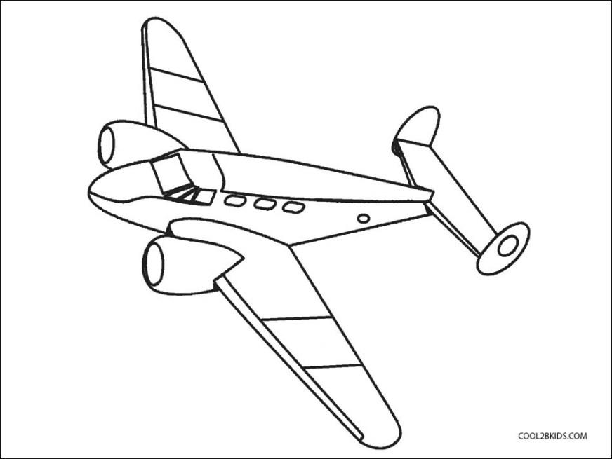 free printable airplane coloring page cool image free