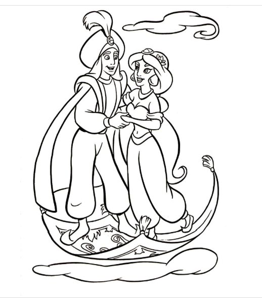 free printable aladdin coloring pages for kids and adults