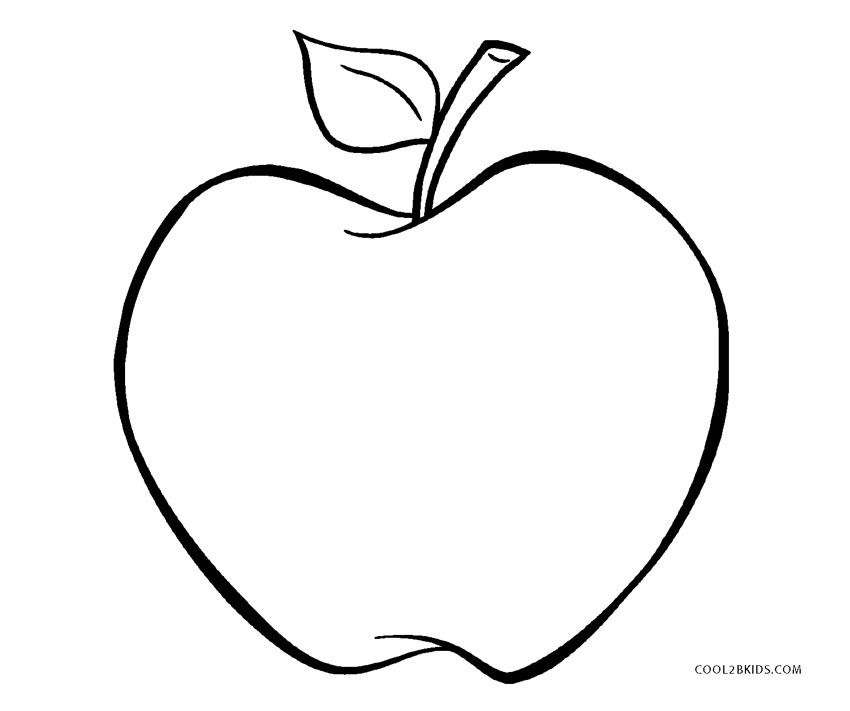 free printable apple coloring pages for kids cool2bkids