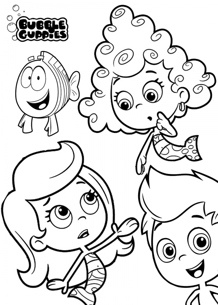 free printable bubble guppies coloring pages download free