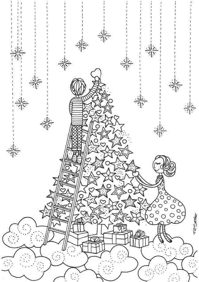 free printable christmas colouring pages for adults