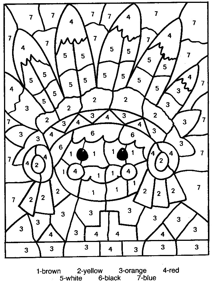 free printable color number coloring pages best