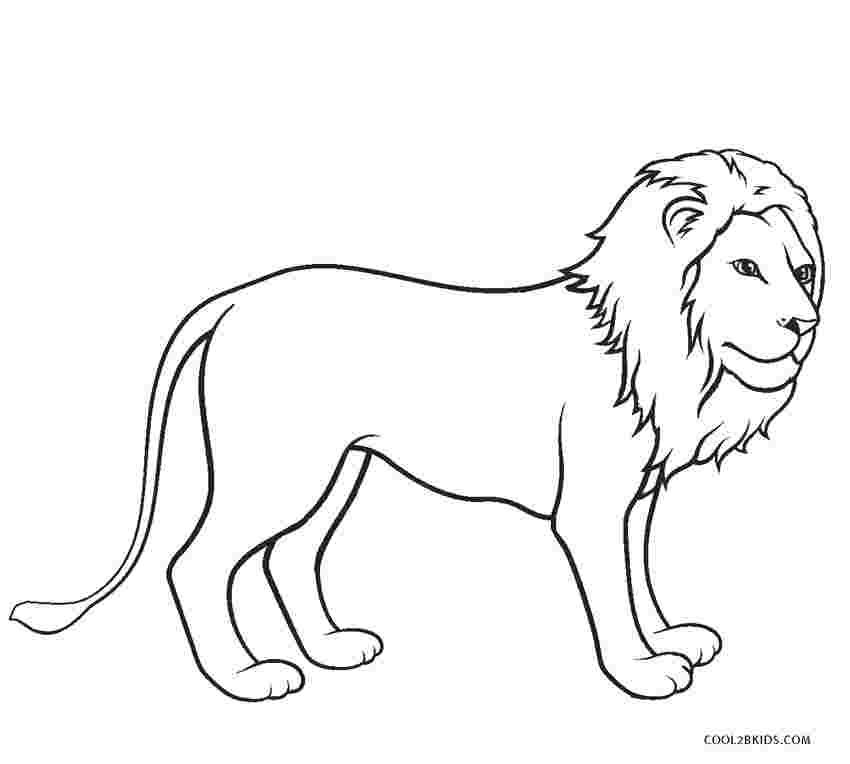 free printable coloring page lion free printable lion