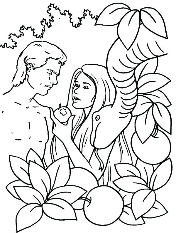 free printable coloring pages adam and eve pusat hobi