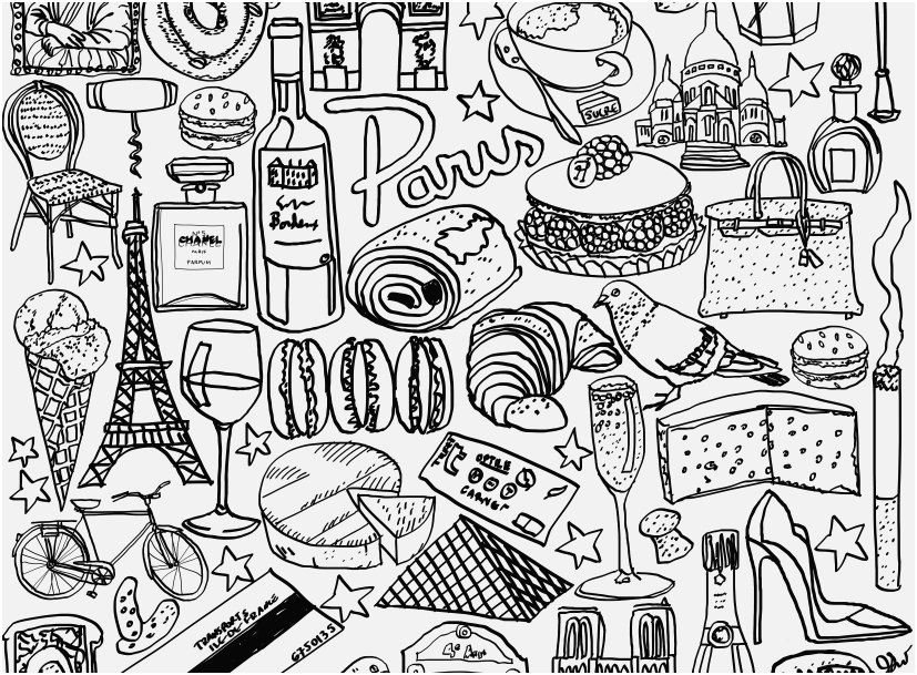 free printable coloring pages eiffel tower pusat hobi