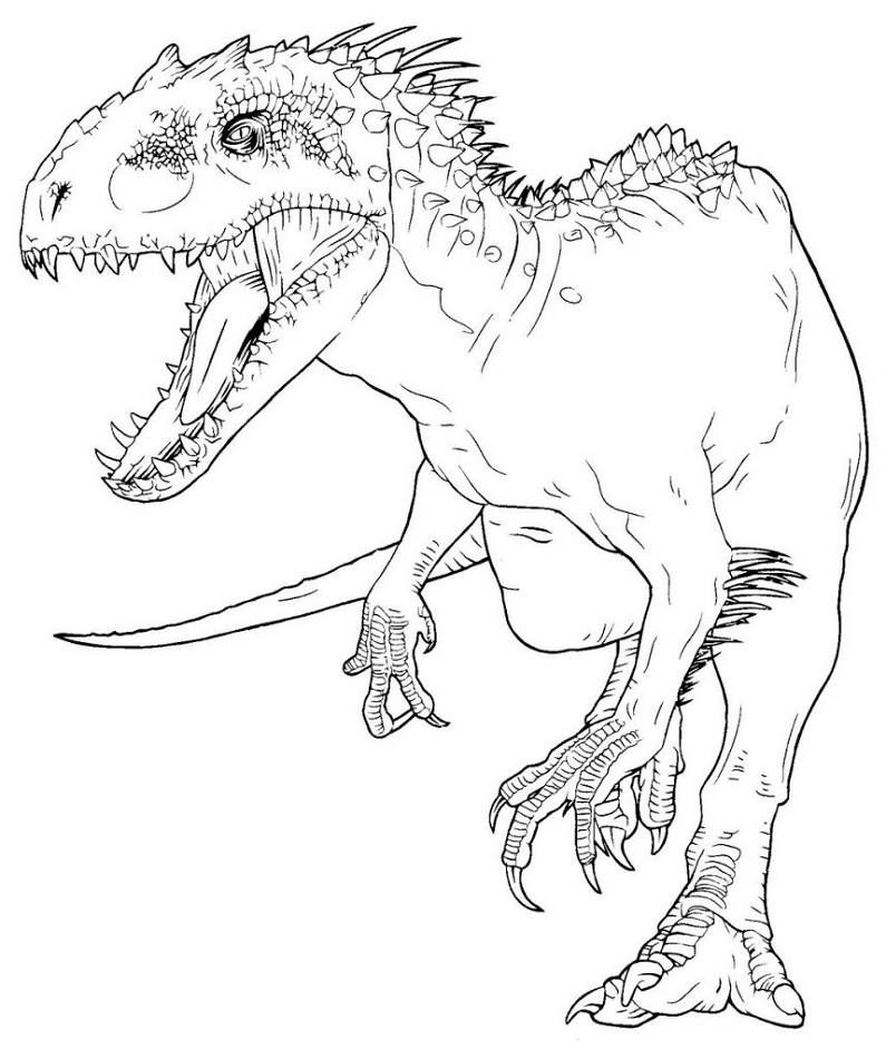 free printable coloring pages jurassic world pusat hobi