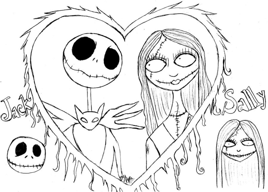 free printable coloring pages nightmare before christmas