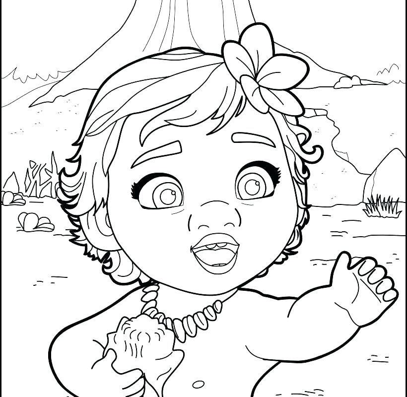 free printable coloring pictures of moana pusat hobi