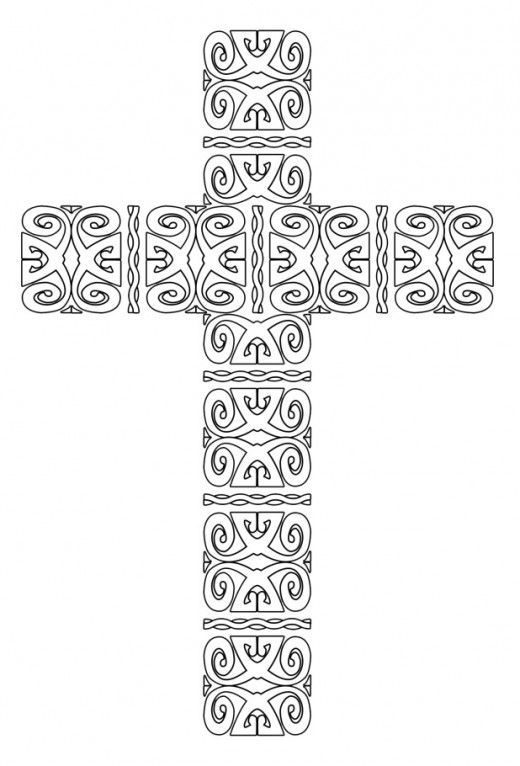 free printable cross coloring pages free printable