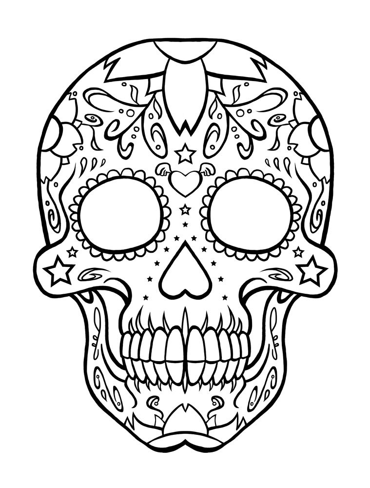 - Day Of The Dead Coloring Pages Gallery - Whitesbelfast