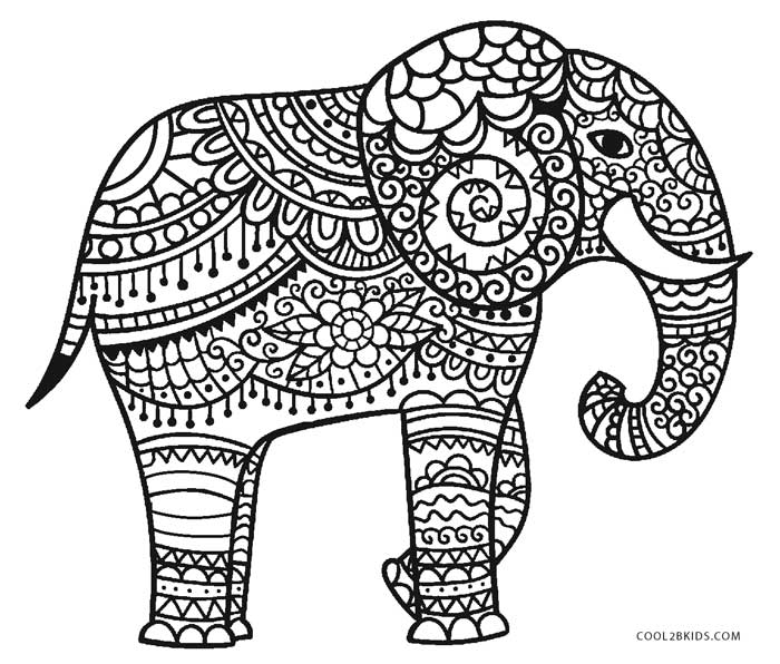 free printable elephant coloring pages for kids cool2bkids