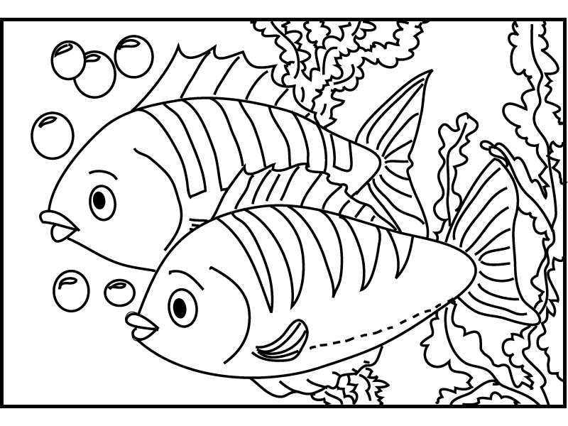 free printable fish coloring pages coloring home
