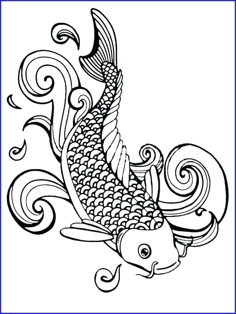 free printable fish coloring pages sheets of a sefoxclub