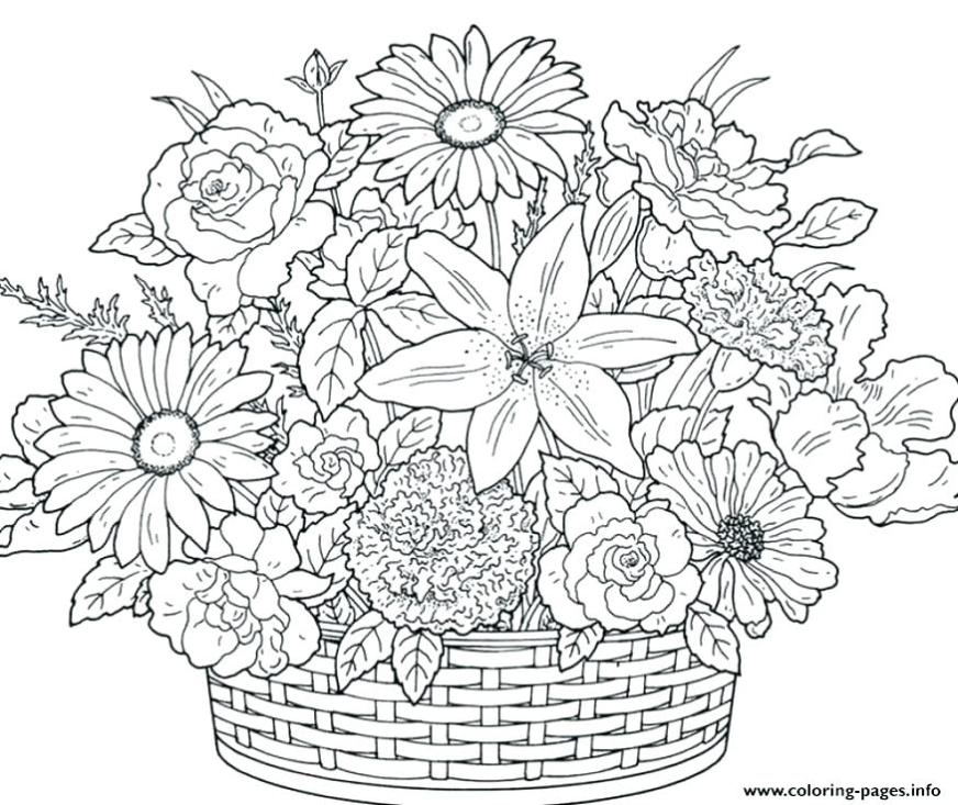 free printable flower coloring pages for adults at