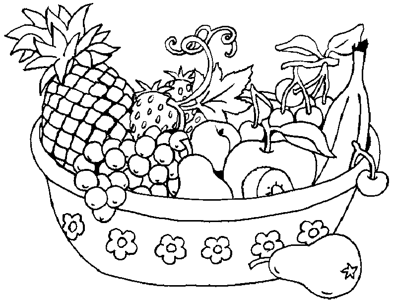 free printable fruit coloring pages for kids sznezlapok