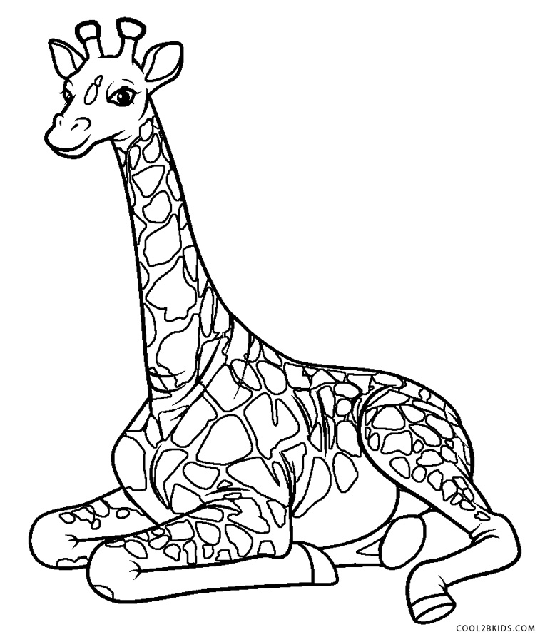 free printable giraffe coloring pages for kids cool2bkids