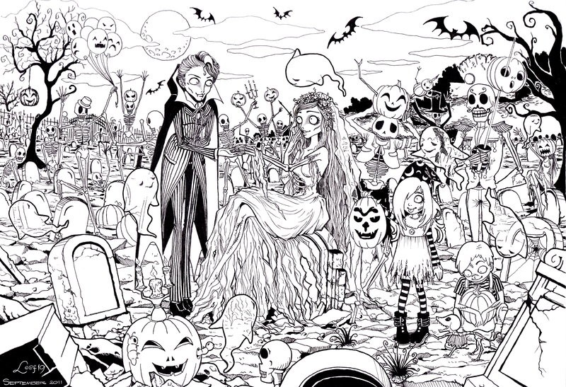 free printable halloween coloring page adults clip art library
