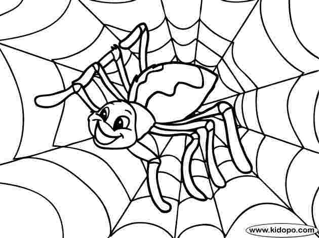 free printable halloween spider coloring pages spider