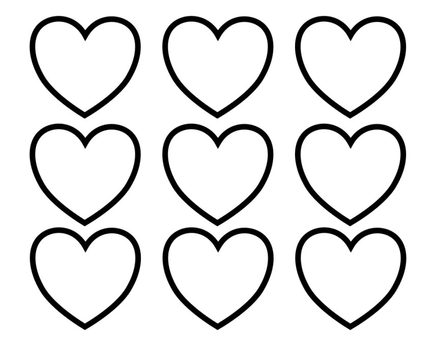 free printable heart coloring pages for kids heart