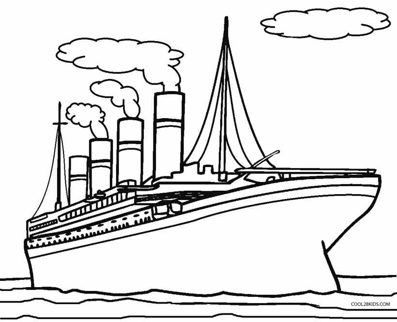 free printable images of titanic for kids to colour in