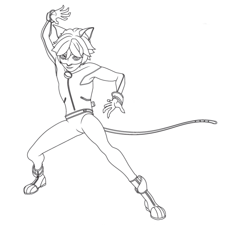 free printable miraculous ladybug and cat noir coloring pages